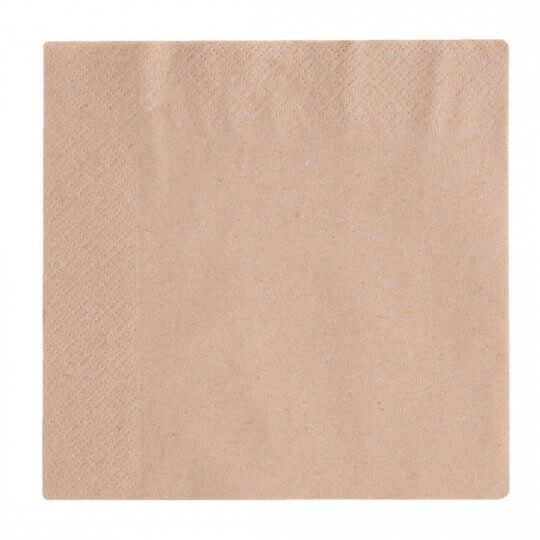 Vegware Compostable Unbleached Lunch Napkins