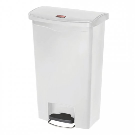 Rubbermaid White 50 Litre Pedal Bin