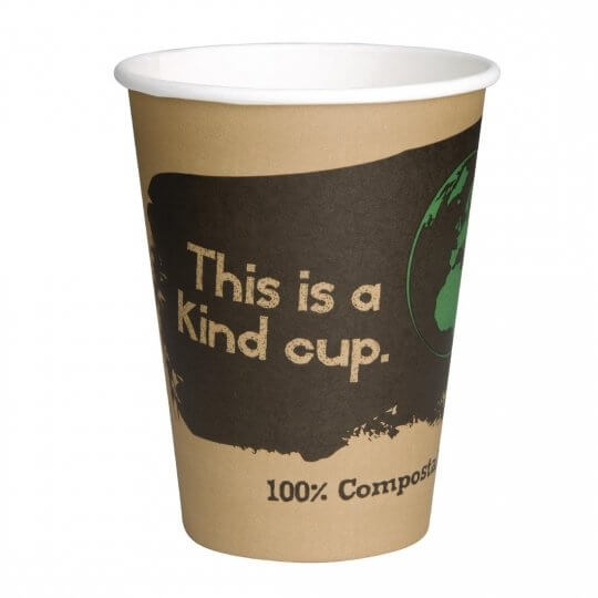 Fiesta Green Single Wall Compostable Hot Cups - 8oz