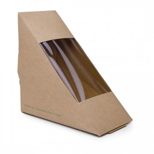 Vegware Compostable Kraft Sandwich Wedges