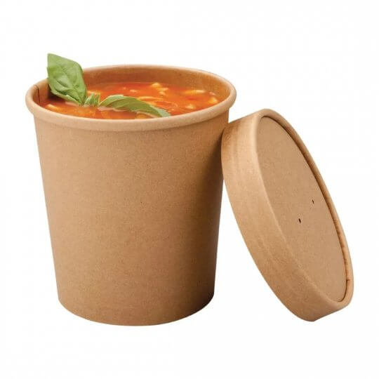 Colpac Recyclable Kraft Soup Cups - 16oz