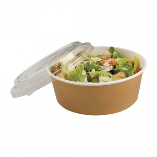 Colpac Recyclable Kraft Food Pots with Lids - 35oz