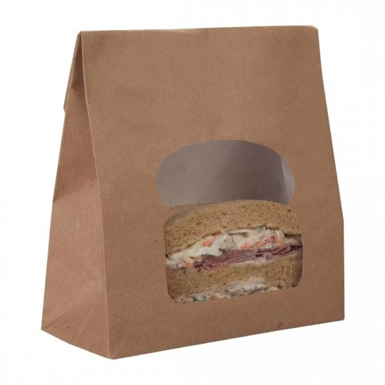 Colpac Recyclable Kraft Sandwich Bags with Window