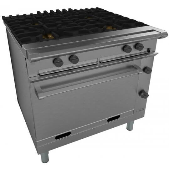 Falcon Chieftain G1006X Gas 4 Burner on legs | Eco Catering Equipment