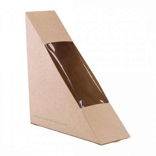 Vegware Compostable Kraft Single Sandwich Wedges