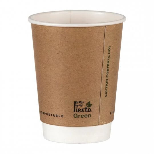 Fiesta Green Double Wall Compostable Hot Cups - 12oz