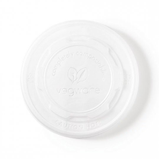 Vegware Compostable Food Pot Flat Lids
