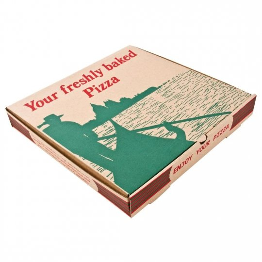 Compostable Printed Pizza Boxes 9""