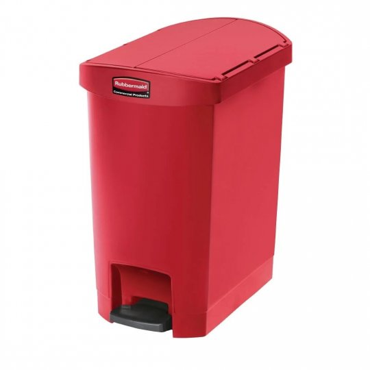 Rubbermaid Red 30 Litre End Step On Pedal Bin