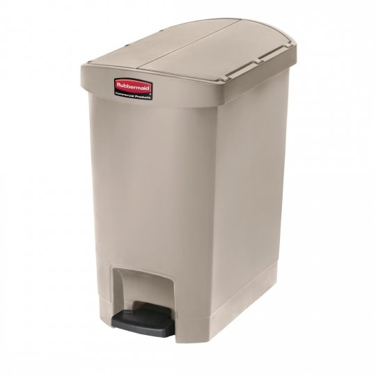 Rubbermaid Beige 30 Litre End Step On Pedal Bin