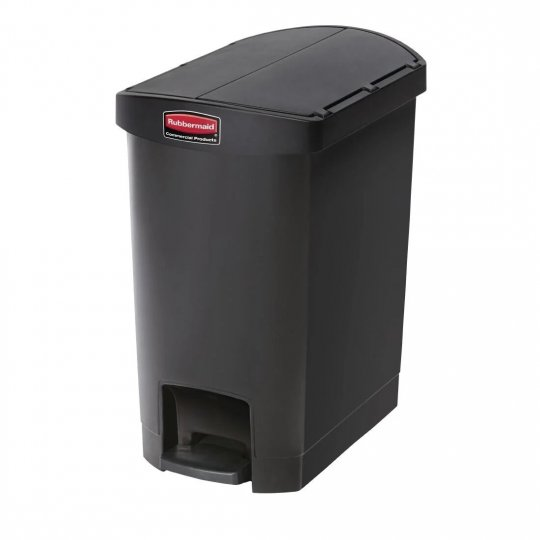 Rubbermaid Black 30 Litre End Step On Pedal Bin
