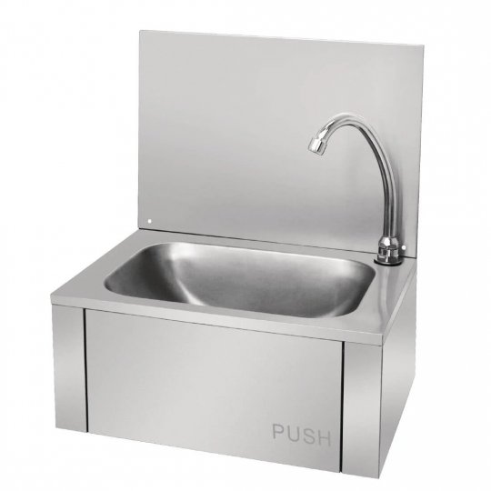Vogue Stainless Steel Knee Operated Hand Wash Basin