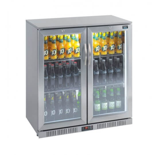 Lec BC9097STLED Double Door Bottle Cooler | Eco Catering Equipment