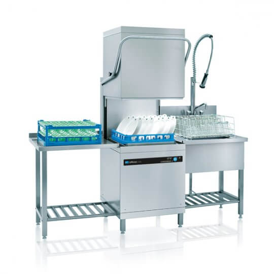 Meiko UPster H500SAA* Hood Dishwasher (500 x 500mm) with Inbuilt Softener and Vapour Condensate Hood | Eco Catering Equipment