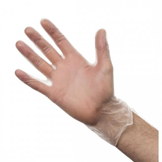 Vogue Extra Large Powder Free Clear Vinyl Gloves