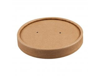 Colpac Recyclable Kraft Soup Cup Lids