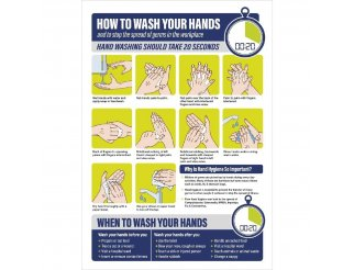 Vinyl How To Wash Your Hands Poster