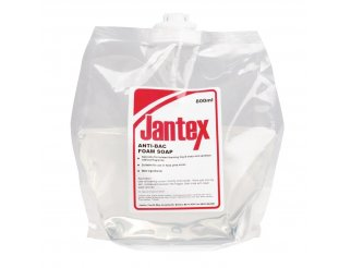 Jantex Unperfumed Anti-Bacterial Foam Hand Soap