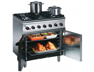 Lincat 6 Burner Gas Oven Range SLR9 Natural/Propane (Silverlink 600) | Eco Catering Equipment