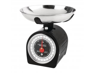 Weightstation Black Dial Kitchen Scale - 5kg