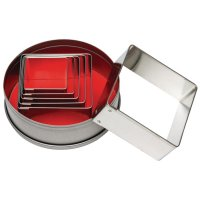 Vogue Square Cutter Set - Pack of 6