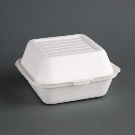 Fiesta Green Compostable Large Bagasse Burger Box