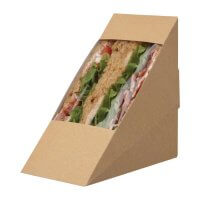 Colpac Compostable Kraft Sandwich Wedges with PLA Window