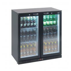 Lec BC90007KLED Double Door Bottle Cooler | Eco Catering Equipment