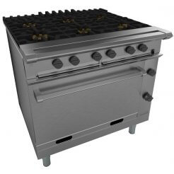 Falcon G1066X Chieftain 6 Burner Gas Oven (Chieftain) | Eco Catering Equipment