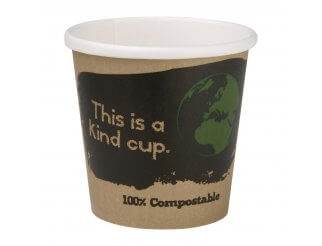 Fiesta Green Single Wall Compostable Espresso Cups - 4oz
