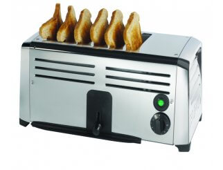 Burco TSSL16CHR 6 Slot Toaster | Eco Catering Equipment